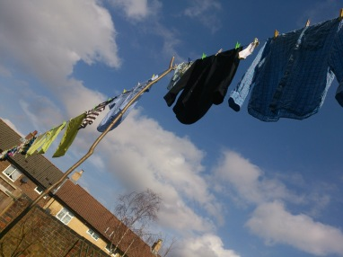 My mother-in-law taught me the delight of a washing line full of clothes, blowing in the sunshiny breeze!