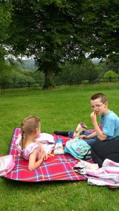 Picnic with my best buddies in our local National Trust garden.