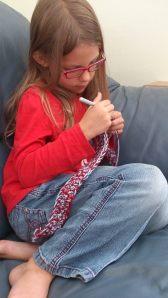 Princess crocheting